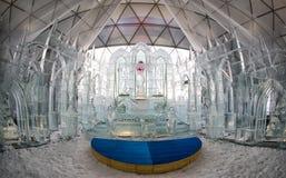 Sculptures et chapelle en glace Image libre de droits