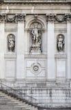 Sculptures on the facade of the Basilica Stock Photo