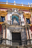 Sculptures on the facade of the Episcopal Palace in Malaga Stock Photography