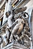 The sculptures on the facade of the Grand Opera Stock Photo