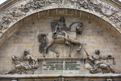 Sculptures on the facade the Hotel Les Invalides. Paris Stock Photography