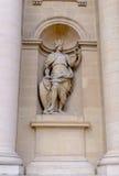 Sculptures facade the Hotel Les Invalides. Paris , France Stock Photo