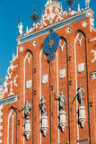 Sculptures On The Facade Of The House Of Blackheads In Riga, Latvia Royalty Free Stock Images