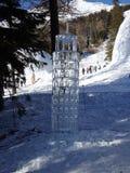 Sculptures faites de glace - haut Tatras - Slovaquie Images stock