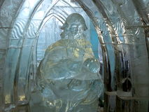 Sculptures faites de glace - haut Tatras - Slovaquie Image stock