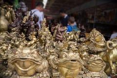 Sculptures at a famous Panjiayuan Antique Market in Beijing Stock Image