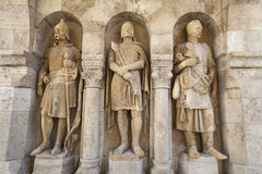 Sculptures at the Fisherman's Bastion in Budapest Royalty Free Stock Photography