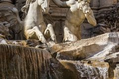 Sculptures on a fountain Royalty Free Stock Photo