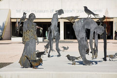 Sculptures in front of Museum of Art in Tel Aviv Stock Photo