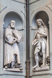 Sculptures of the Galileo Galilei and Pier Antonio Micheli, Flor Stock Image
