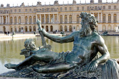 Sculptures of the garden of the Palace of Versailles Royalty Free Stock Images