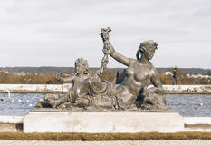 Sculptures in the garden of Versaille palace Stock Photography