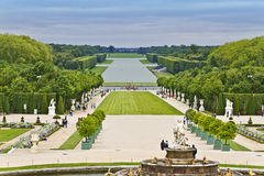 Sculptures in the garden of the Versailles Palace Royalty Free Stock Photos