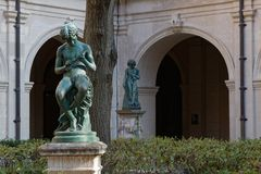 Sculptures in the Gardens of Palais Saint-Pierre Royalty Free Stock Photo