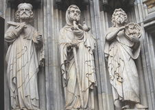 Sculptures in Gothic Cathedral stock photos