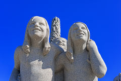 Sculptures of Gustav Vigeland Royalty Free Stock Photos