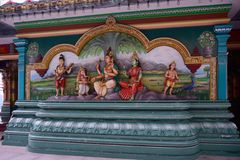 Sculptures of Hindu deities Royalty Free Stock Image