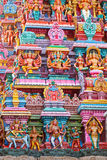 Sculptures on Hindu temple Royalty Free Stock Image