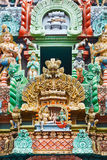 Sculptures on Hindu temple Stock Photo