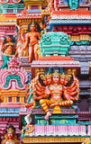 Sculptures on Hindu temple Stock Photo