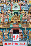 Sculptures on Hindu temple Stock Image