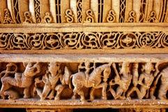 Sculptures in Hindu temple Stock Photo