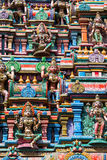 Sculptures on Hindu temple Stock Photos