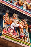 Sculptures on Hindu temple tower Royalty Free Stock Photo