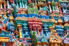 Sculptures on Hindu temple tower Stock Photography