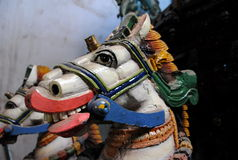 Sculptures of horses for the annual religious festival in Sri Lanka Royalty Free Stock Photography