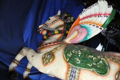 Sculptures of horses for the annual religious festival in Sri Lanka Stock Images
