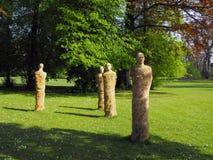 Sculptures In A Park. Stock Photos