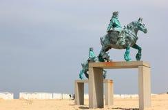 Free Sculptures In Koksijde - Oostduinkerke. North Sea, Belgium, Europe. Stock Image - 118795131