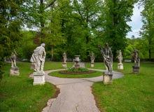 Sculptures In Park Of Konopiste Castle Near Prague, Benesov, Czech Republic Royalty Free Stock Image