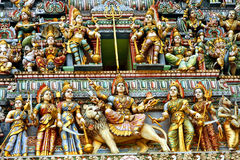 Sculptures on indian temple Stock Image