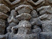 Sculptures indoues antiques - prière de passionnés Photographie stock libre de droits