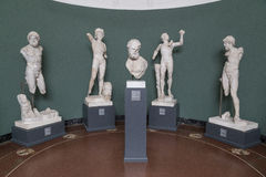 Sculptures inside the New Carlsberg Glyptotek in Copenhagen Stock Images