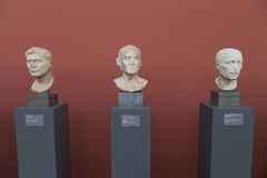 Sculptures inside the New Carlsberg Glyptotek in Copenhagen Royalty Free Stock Photos