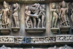 Sculptures,khajirahu temple,m.p.india Royalty Free Stock Image