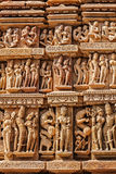Sculptures on Khajuraho temples Stock Image