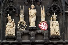 Sculptures of kings Stock Images