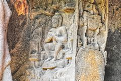 Sculptures of Kuda Caves stock photography