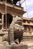 Sculptures of lion, Patan, Kathmandu valley, Nepal Stock Image