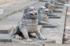 Sculptures of lions. Colombo, Sri Royalty Free Stock Photography