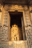 Sculptures of Lord Krishna, Chaturbhuj Temple, Khajuraho, India,. Sculptures of Lord Krishna, Chaturbhuj Temple, dedicated to Lord Shiva, Western Temples of Royalty Free Stock Photo