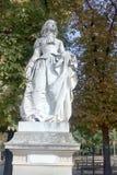 Sculptures of the Luxembourg garden stock photos