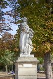 Sculptures of the Luxembourg garden. Paris, France - 22.09.2017: Sculptures of the Luxembourg garden and Palace (le Jardin du Luxembourg). Statues of French stock photo