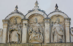 Sculptures at Machado de Castro Museum in the historic center of Royalty Free Stock Photos
