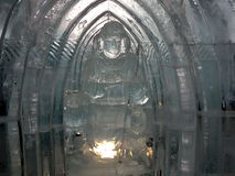 Sculptures made of ice - High Tatras - Slovakia Royalty Free Stock Photos