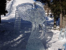 Sculptures made of ice - High Tatras - Slovakia Stock Photo